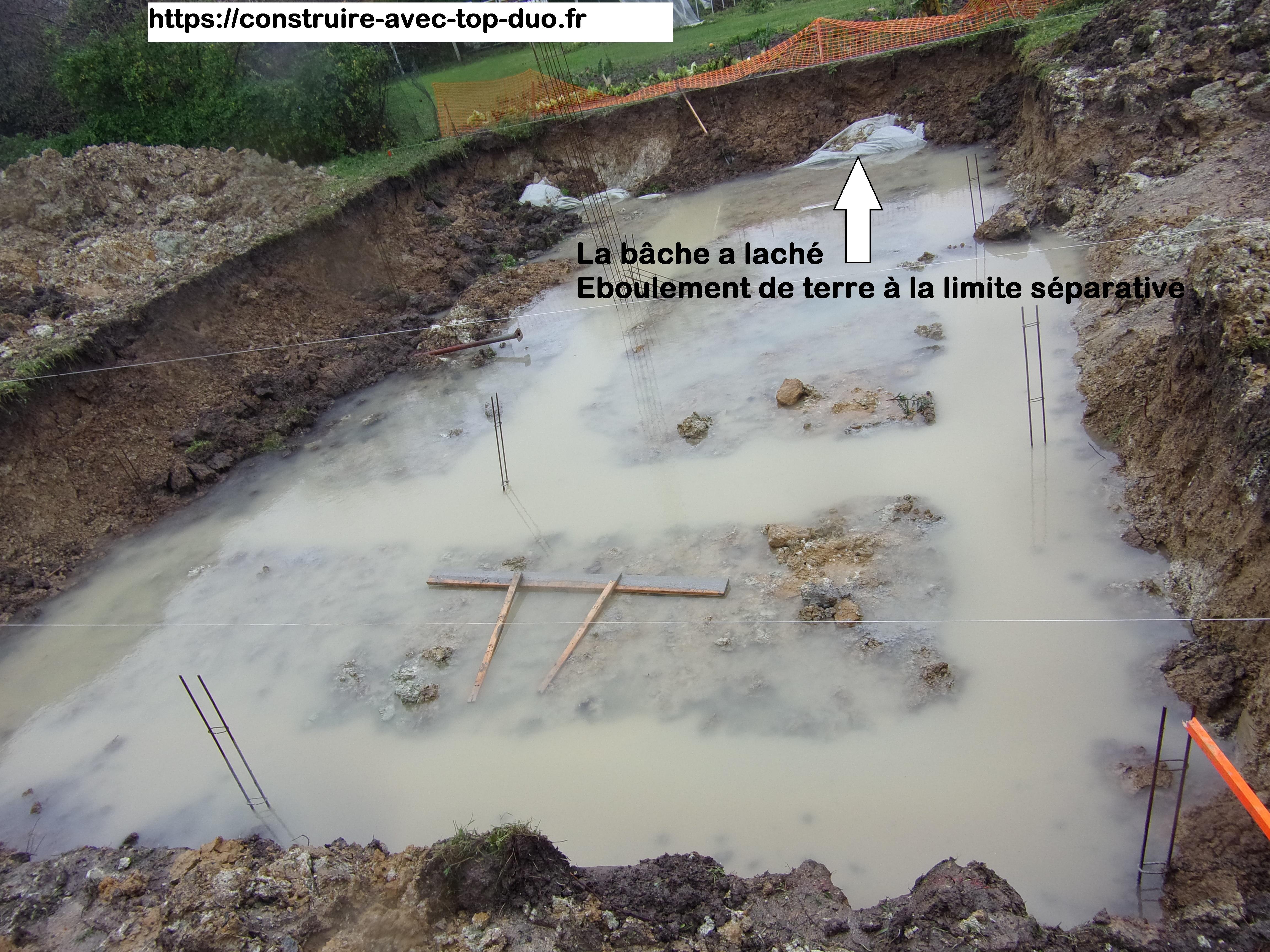chantier sous l'eau