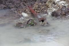 poteau sous l'eau