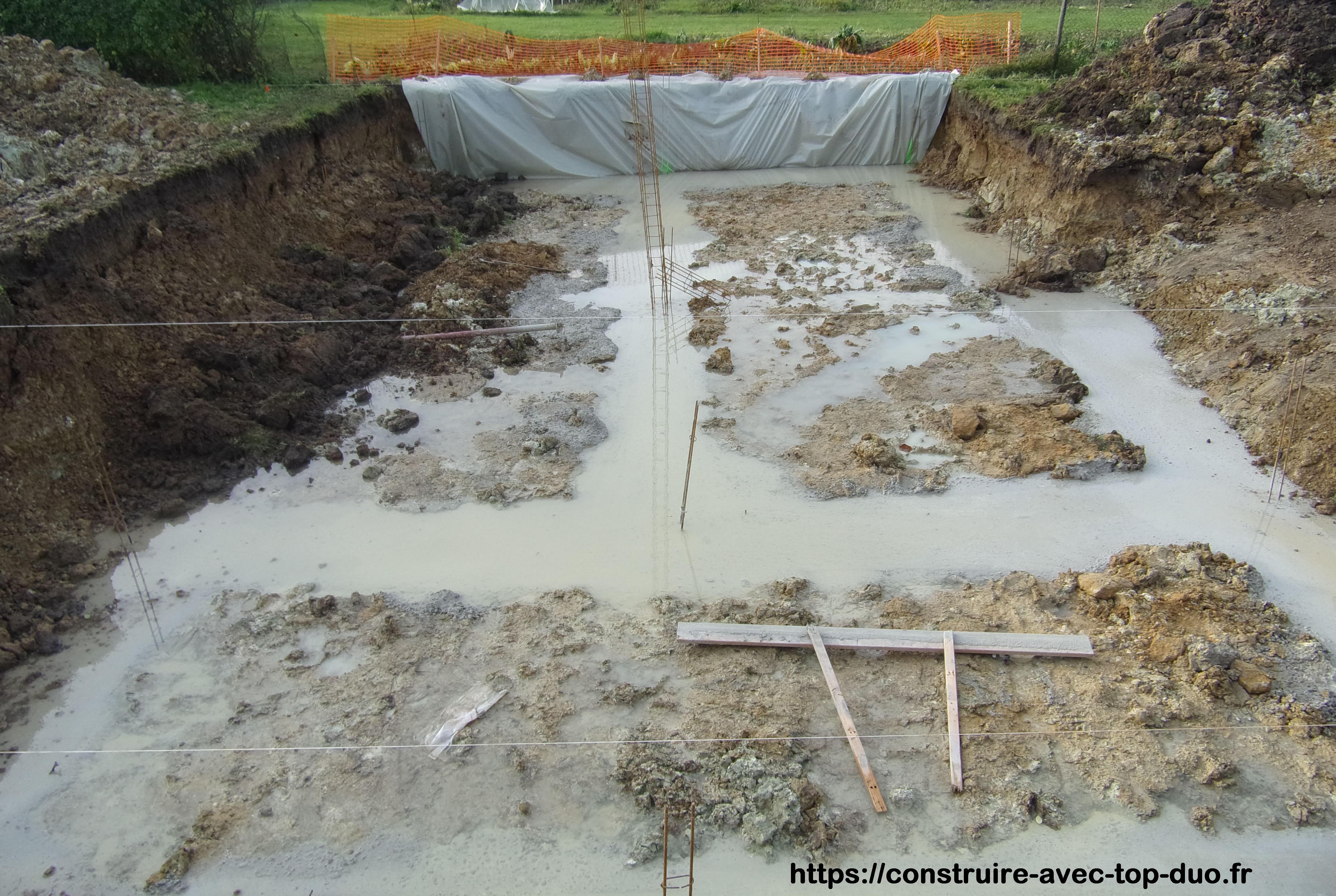 fondation inondée