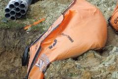 sac de sable renversé fondations