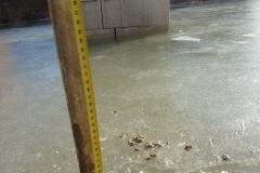 Fondation noyée sous la glace