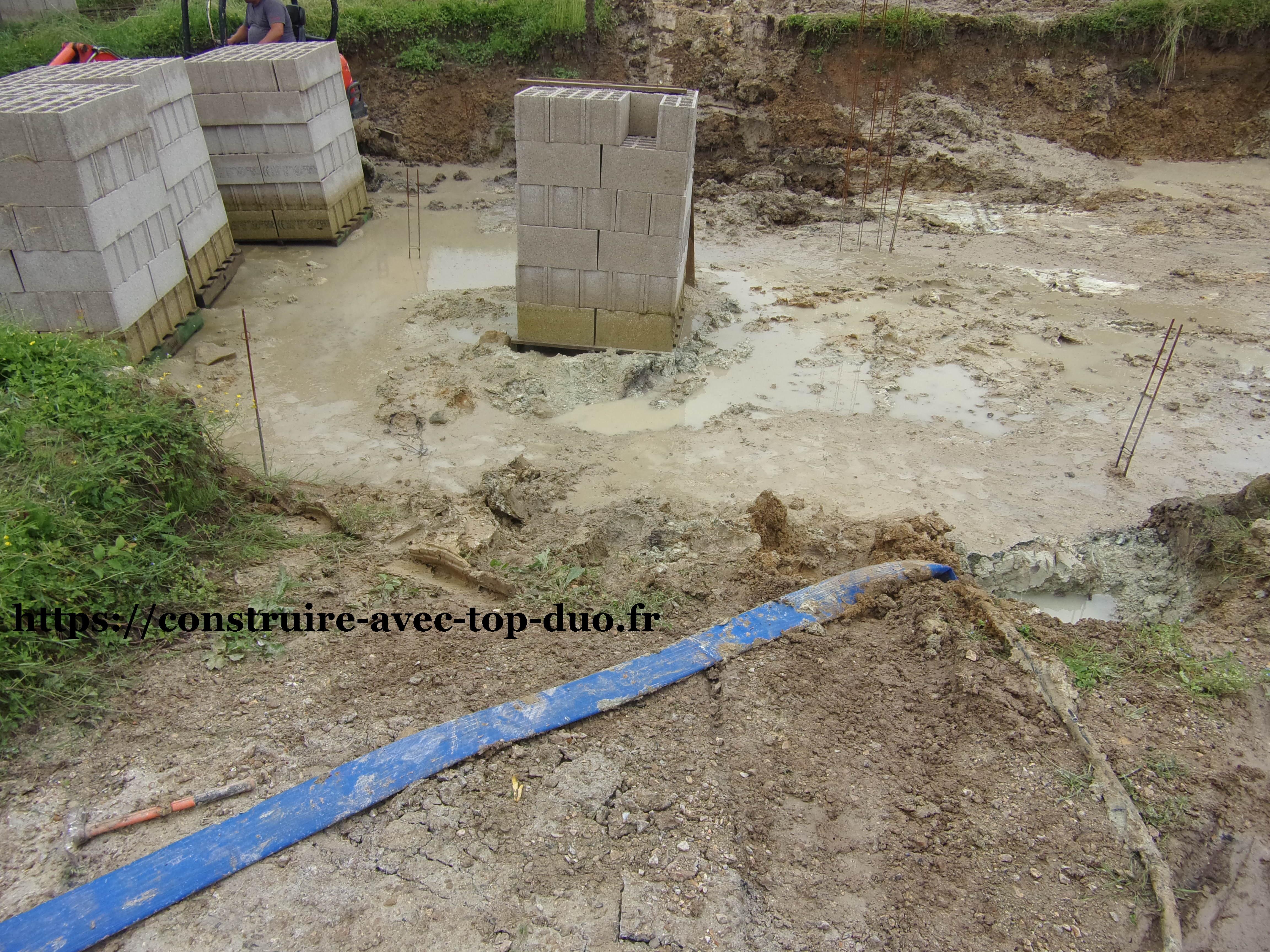 Chantier TOP DUO pompage  de l'eau