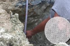 Mesure fondations  fouilles chantier TOP D UO